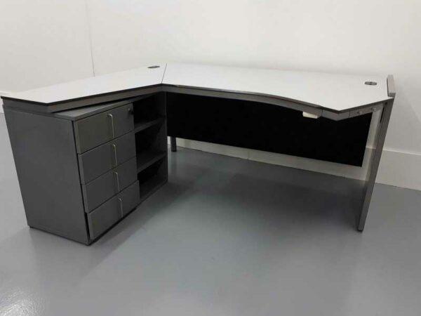Mesas de oficina mesa gris