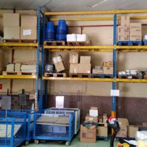 Lote estantería para palets con productos