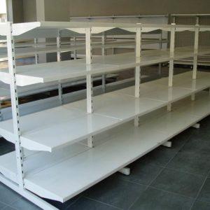 estanteria metalica gondola blanca